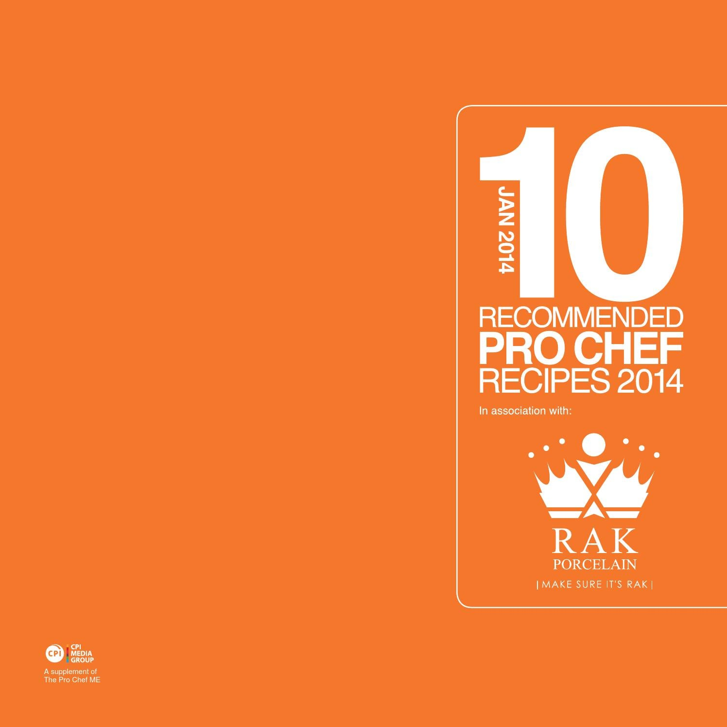The Pro Chef ME Top 10 Recipes Jan 2014 by The Pro Chef Middle East