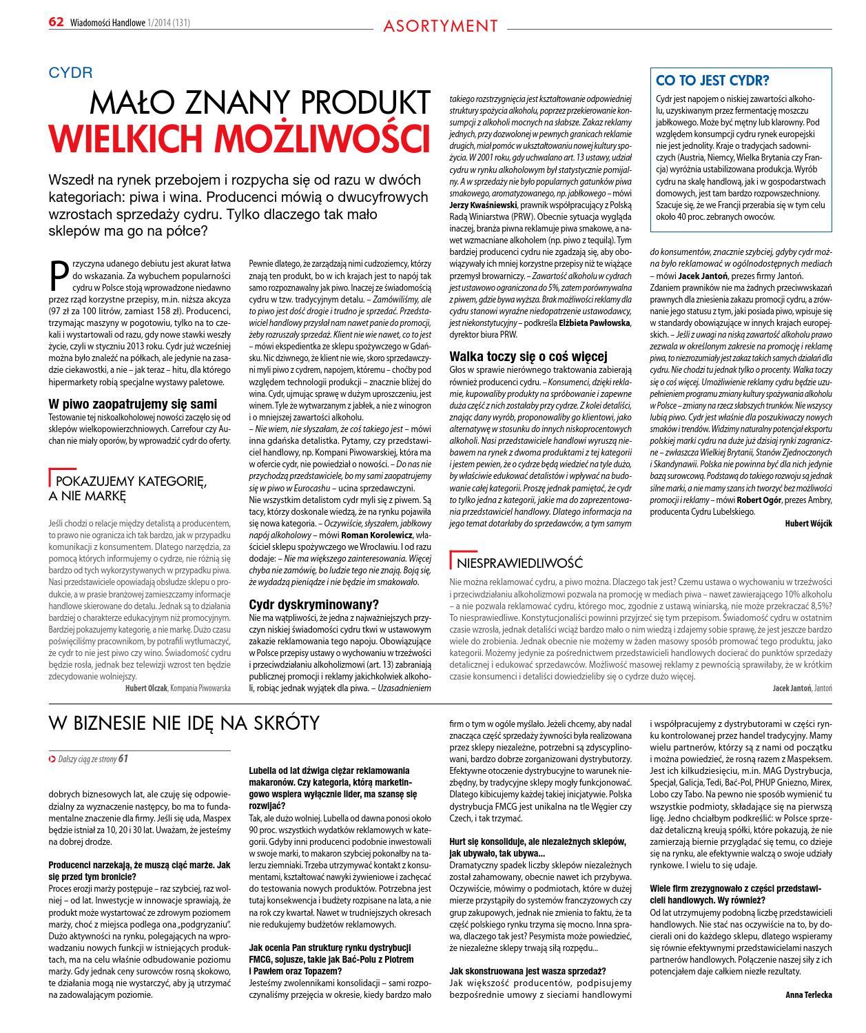 ce6658e301 Wiadomości Handlowe I 2014 by Wydawnictwo Gospodarcze - issuu