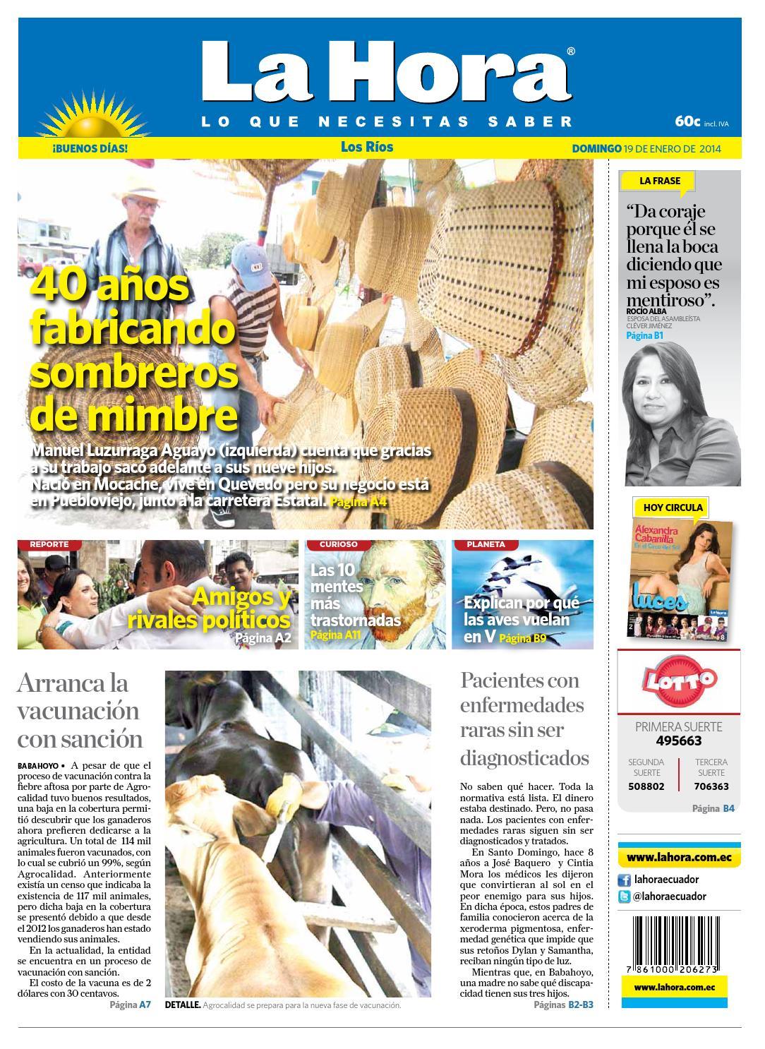 Los Ríos 19 de enero 2014 by Diario La Hora Ecuador - issuu d88a872d0b8