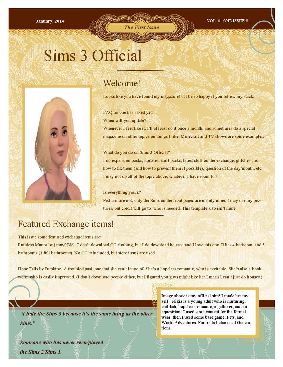 Sims 3 Offical by Makayla Stone - issuu