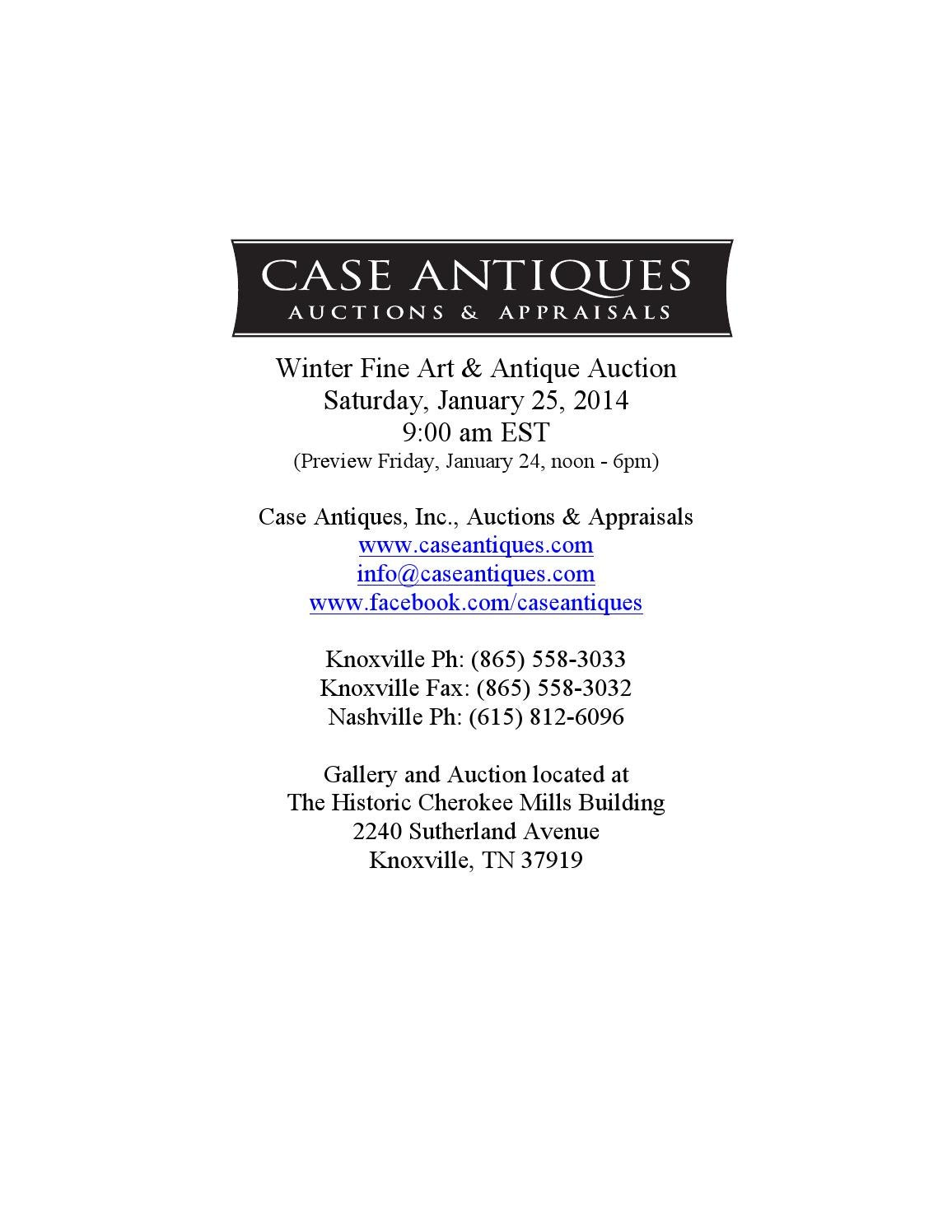 Jan 25 2014 catalog with terms v5 by Case Antiques dfe4d5c8d0cd