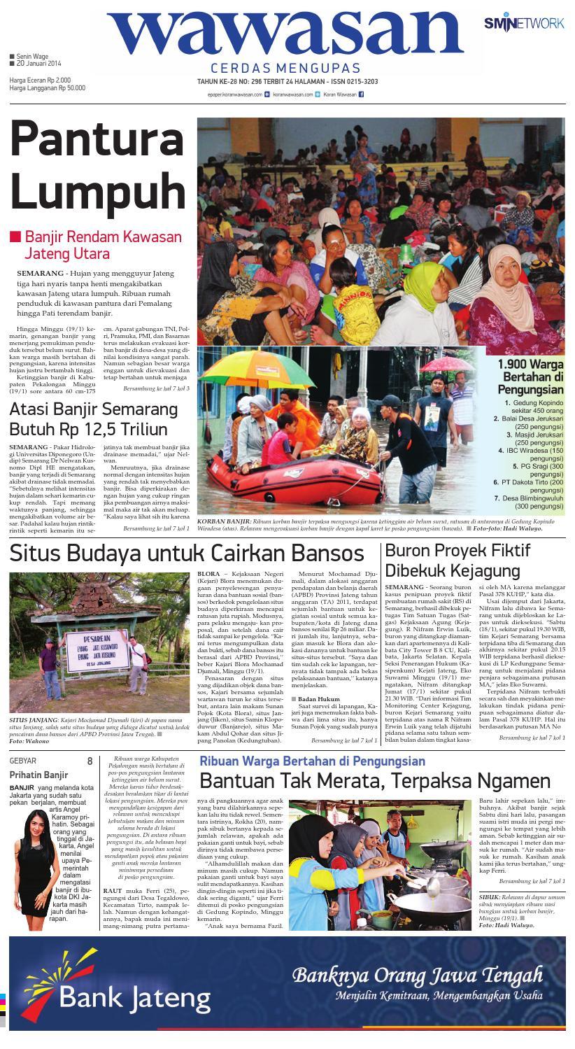 wawasan 20 januari 2014 by koran pagi wawasan issuuIrdk Prihatin Nasi Bungkus Air Minuman #12