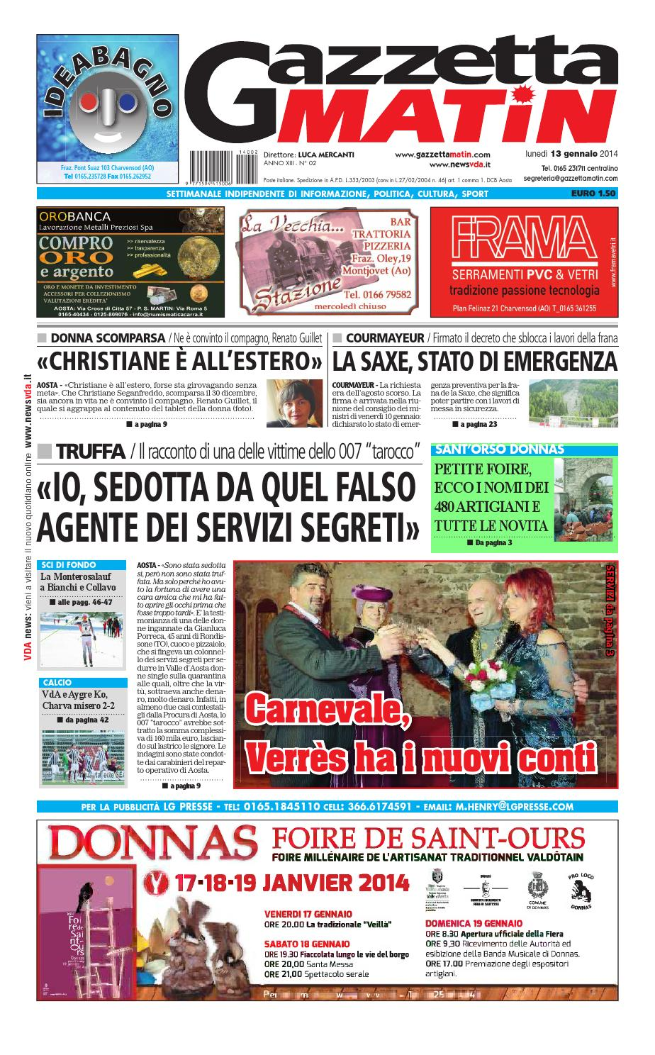 Gazzetta Matin del 20 gennaio 2014 by Luca Mercanti - issuu 180523df46d
