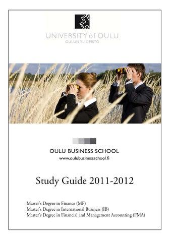 Guide 11 12 By Oulubusinessschool Issuu