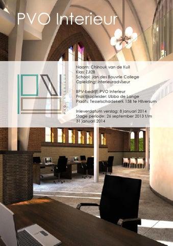 Stageverslag PVO Interieur - Chinouk van de Kuil by Chinouk van de ...