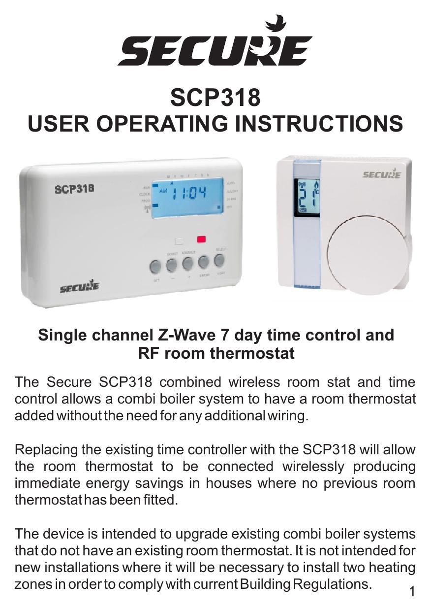 Secure Scp318 Manual By Z Waver Issuu Wiring A Rf Thermostat