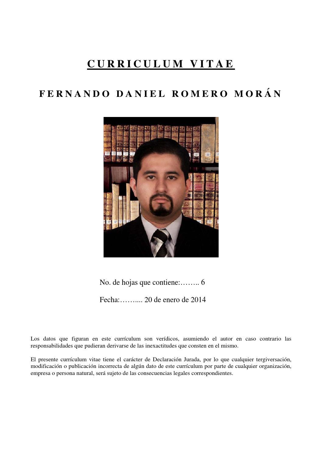 Curriculum Vitae by Fernando Romero - issuu