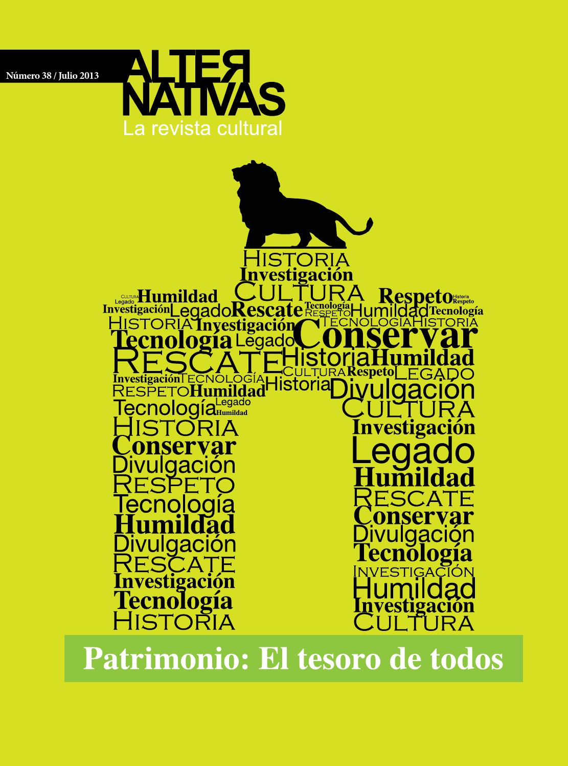 Revista Cultural Alternativas N38 Julio 2013 By Revista Cultural  # Muebles Umbe Horario
