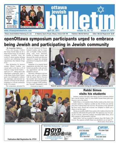 Ottawa jewish bulletin 2011 04 25(inaccessible)