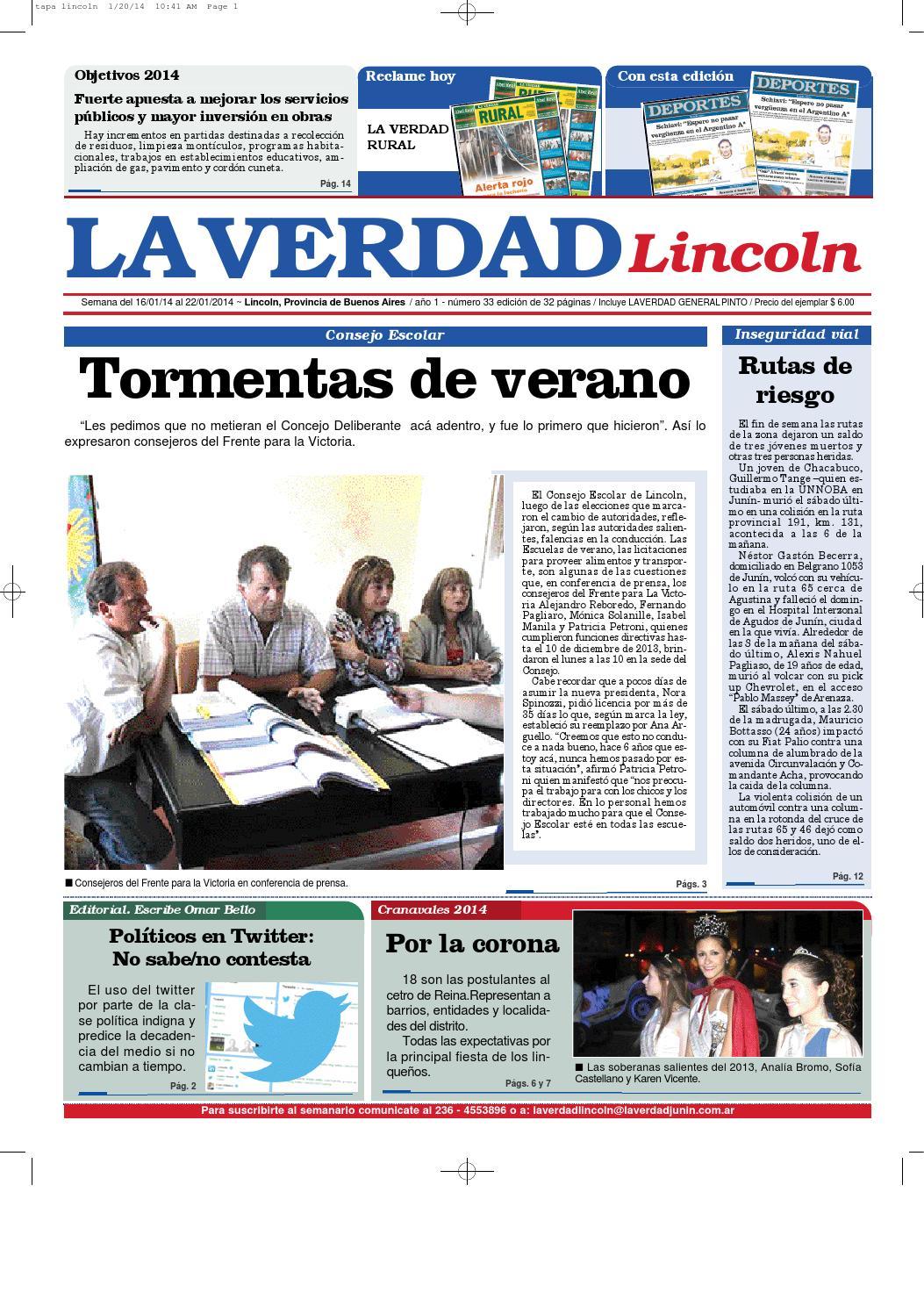 La Verdad Lincoln by Diario La Verdad - issuu