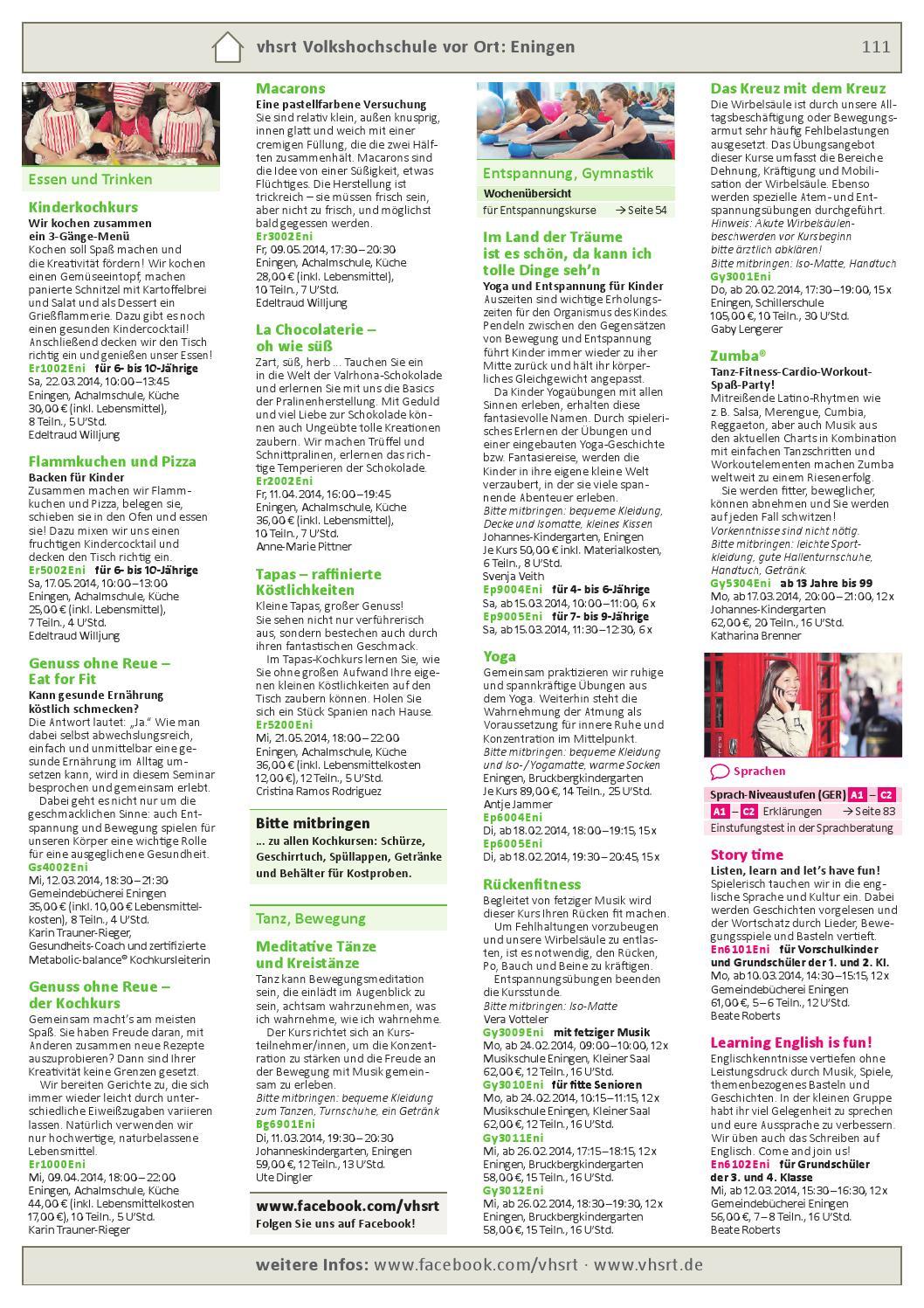 Programm Frühjahr/Sommer 2014 by Volkshochschule Reutlingen - issuu
