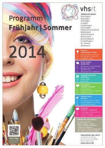 Programm Frhjahr Sommer 2014 By Volkshochschule Reutlingen