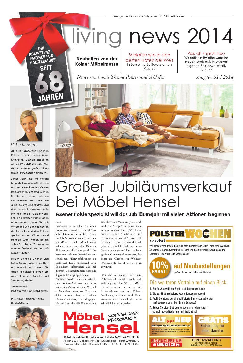 Hauszeitung Living News 2014 By Möbel Hensel Issuu