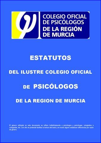 Estatutos colegio psic logos regi n de murcia by colegio for Colegio de aparejadores de murcia