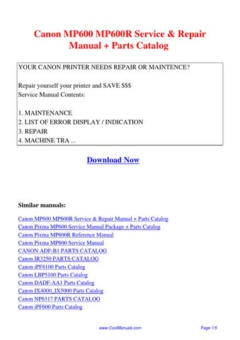 canon mp600 service manual how to and user guide instructions Canon MP560 Printer Manuals Canon PIXMA Printer Manual