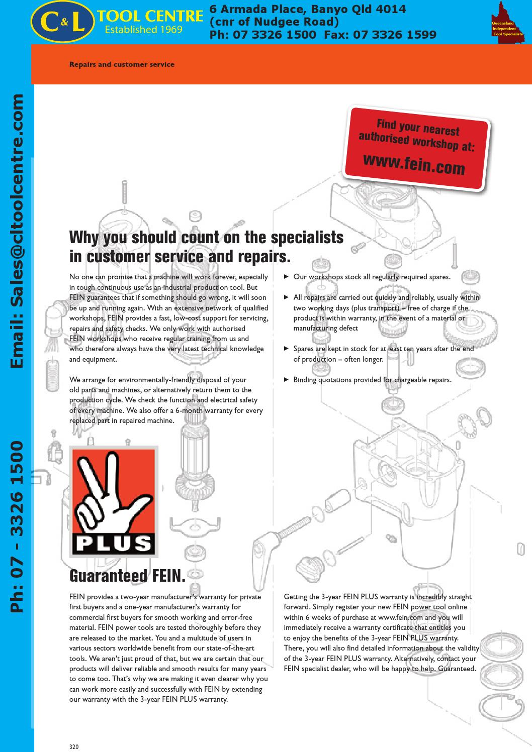 Fein Power Tools & Accessories by C&L Tool Centre Pty Ltd
