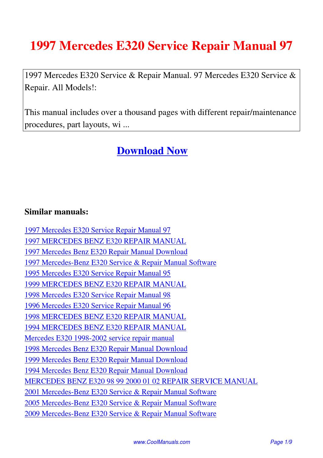 1997 mercedes e320 service repair manual 97pdf by linda pong issuu publicscrutiny Choice Image