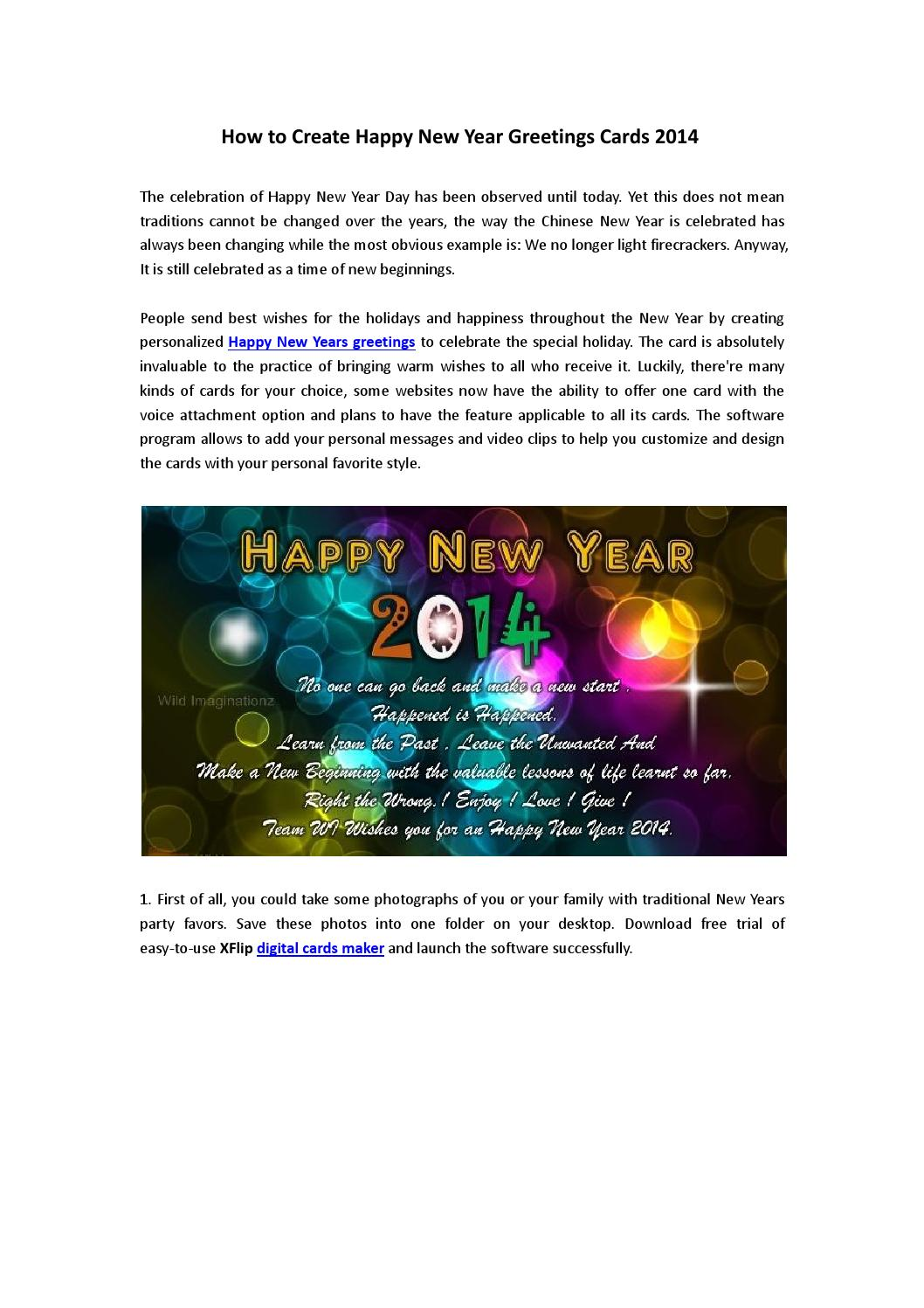 How To Make New Year Wishes Greeting Cards 2014 By Merry Flip Issuu