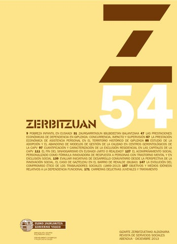 Zerbitzuan 54 By Siis Centro De Documentación Y Estudios
