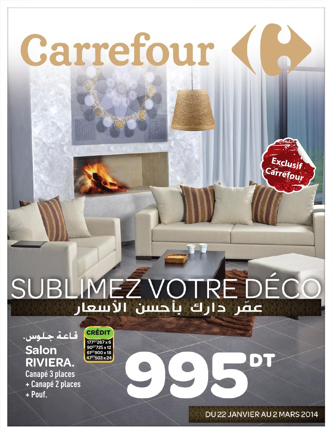 Catalogue carrefour deco by carrefour tunisie issuu for Salon 9 places tunisie
