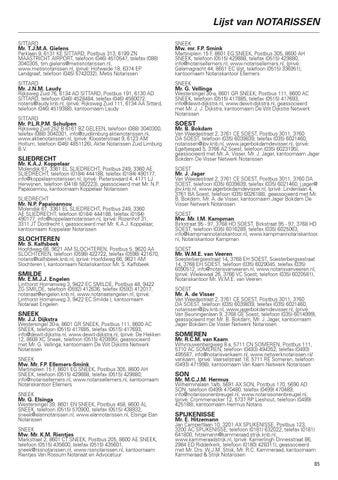 notaris lijst