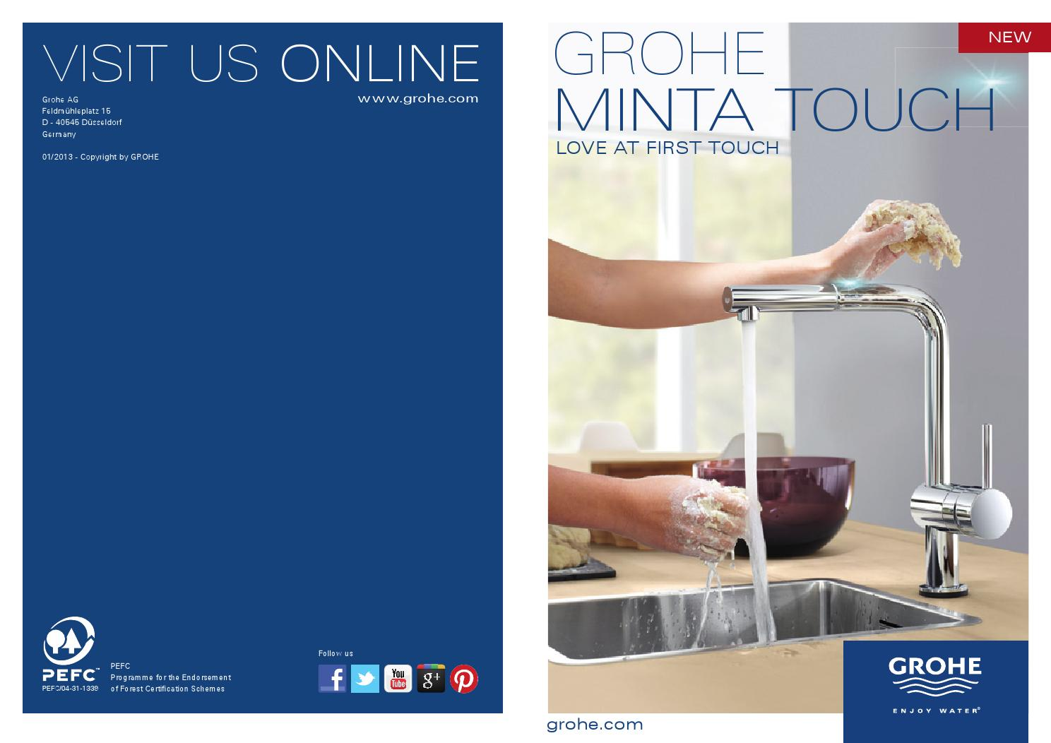 Grohe Minta Touch Brochure 2013 By Tim Cavanagh Issuu