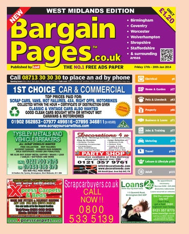 54f6f0a2c30 Bargain Pages Midlands, 17th January 2014 by Loot - issuu
