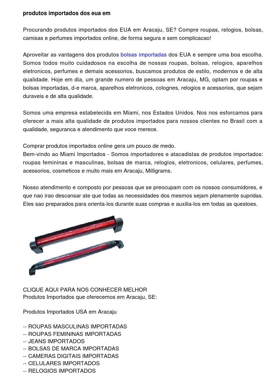 2ac6e9cdf Produtos Importados dos EUA em Aracaju, SE by Columbus Mandigo - issuu
