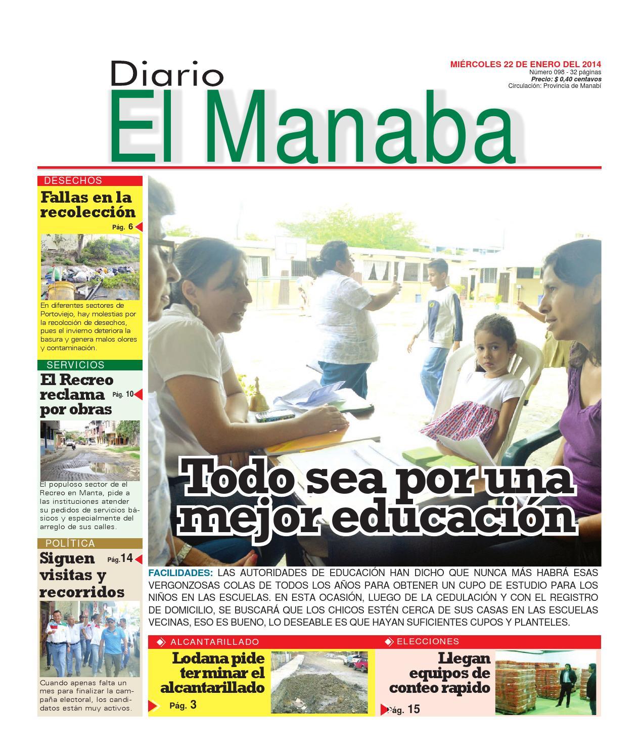 Diario el manaba enero 22 2014 by elmanaba - issuu