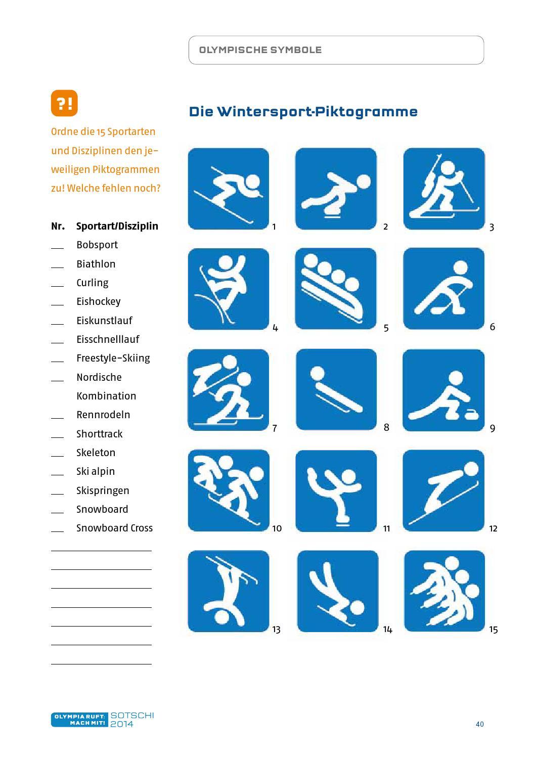 Arbeitsblätter Olympische Winterspiele : Quot olympia ruft mach mit arbeitsmaterialien primarstufe