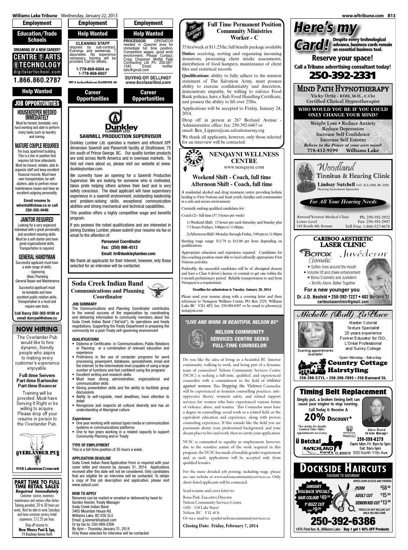 Williams Lake Tribune, January 22, 2014 by Black Press - issuu