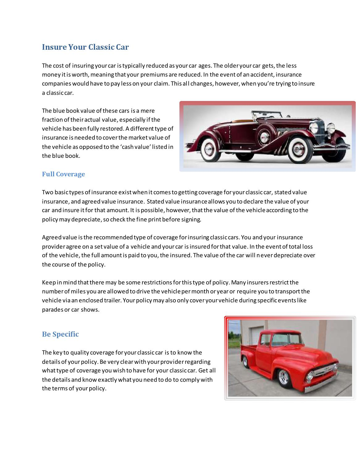Insure Your Classic Car By Seth Jenkins Issuu