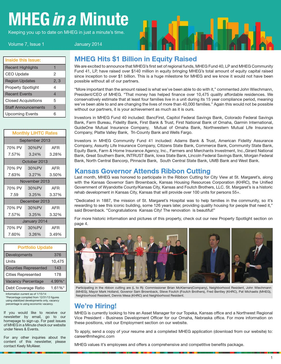 2014 jan mheg newsletter by MHEGINC - issuu