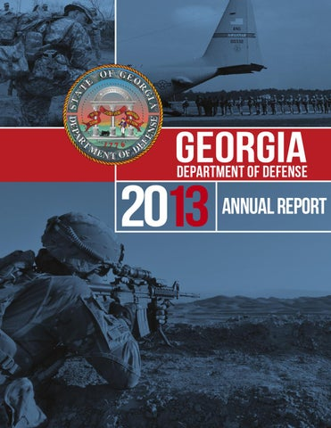 2013 Georgia Department Of Defense Annual Report By Georgia National