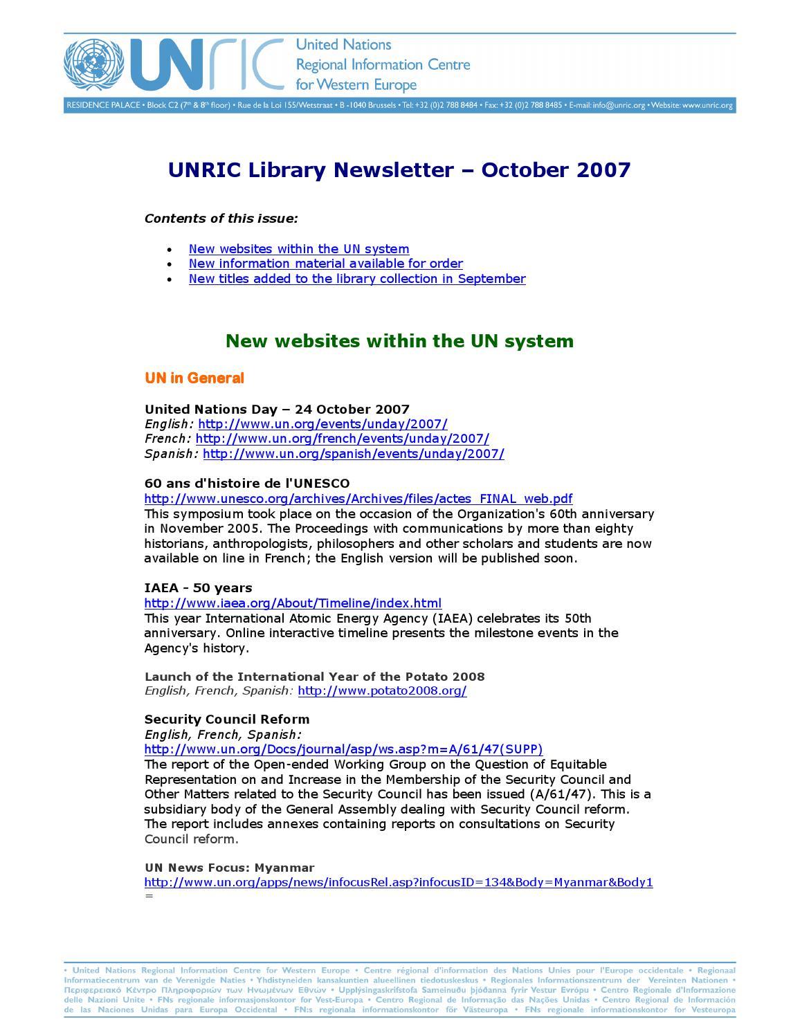 United Nations Organisation Pdf