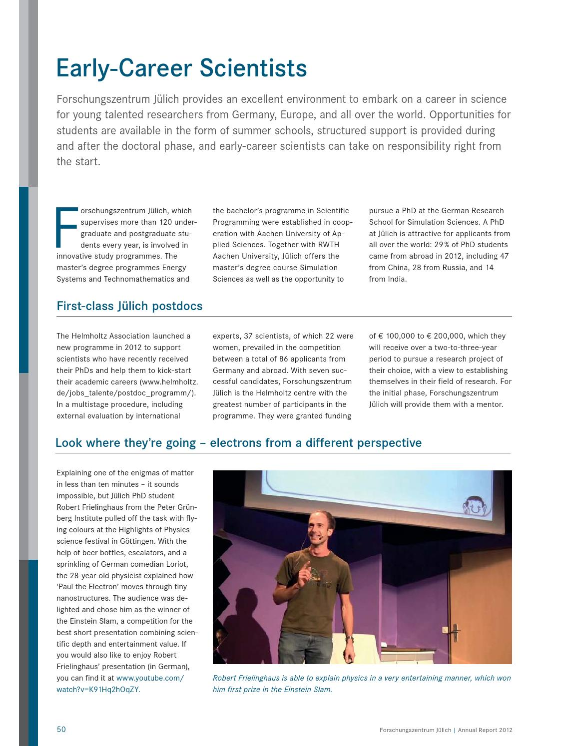 Annual Report 2012 by Forschungszentrum Jülich - issuu