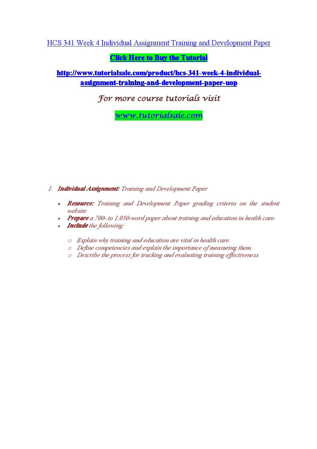 Sample on Training and Development