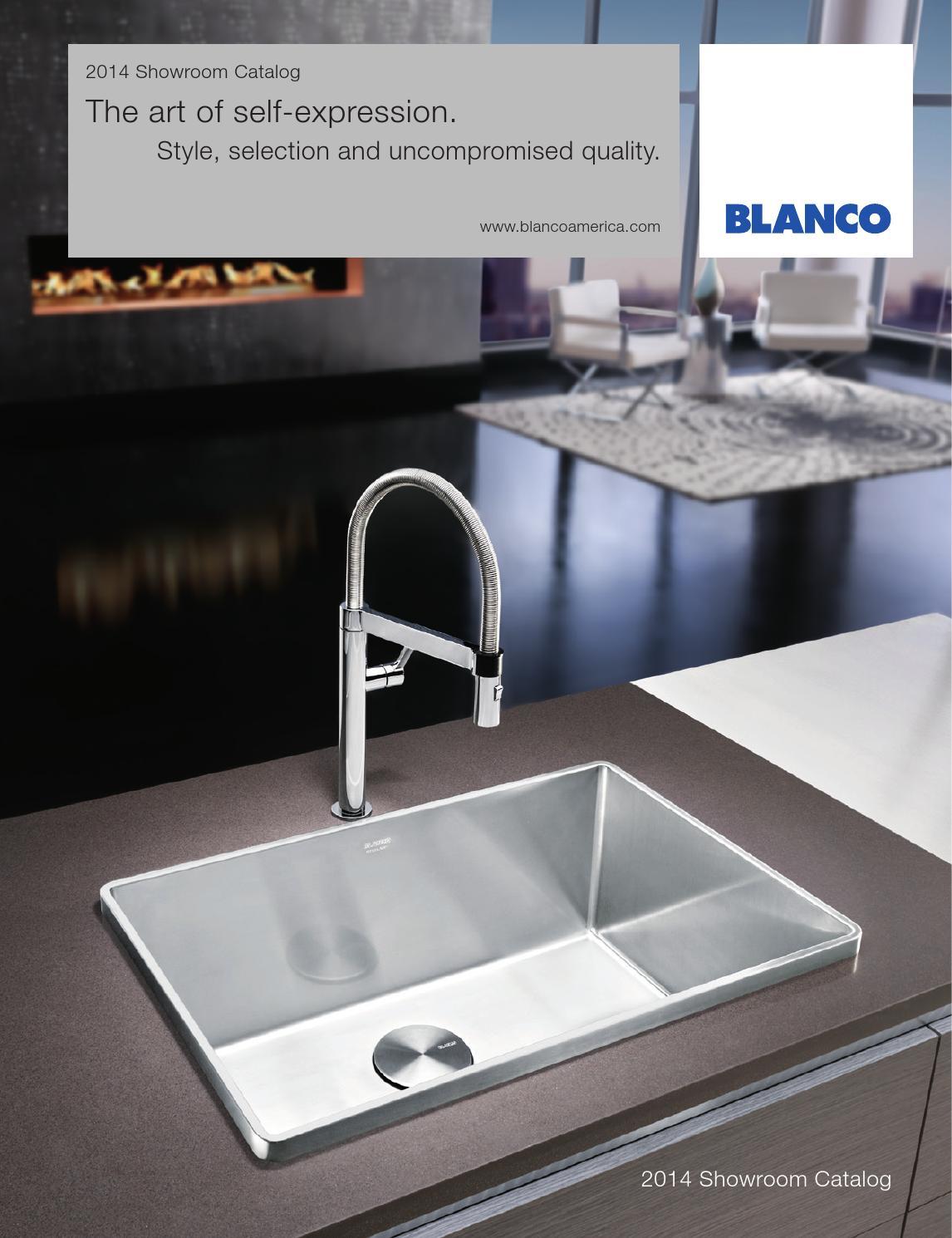 Blanco 2014 showroom catalog by blanco issuu for Blancoamerica com kitchen sinks
