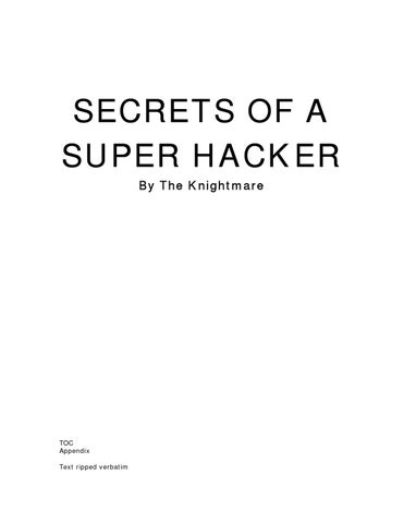 190671832 Secrets Of A Super Hacker By M4st3rm1nd Issuu