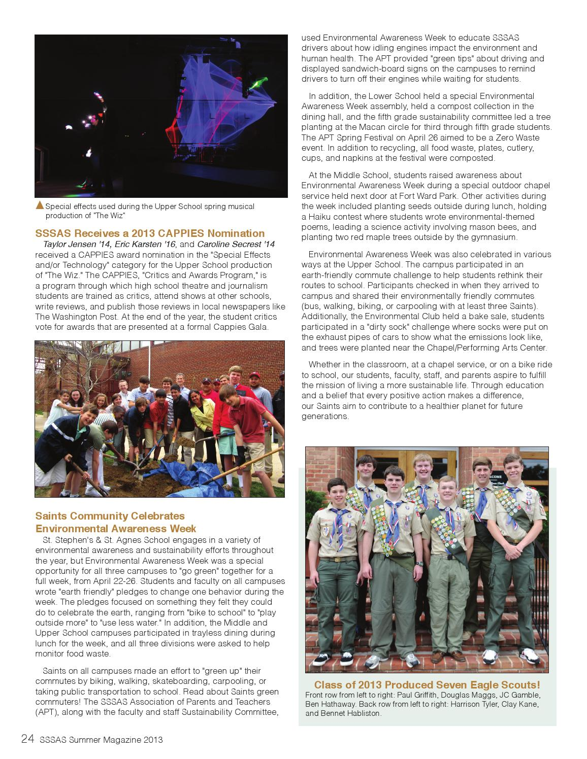 2013 SSSAS Summer Magazine by St  Stephen's and St  Agnes