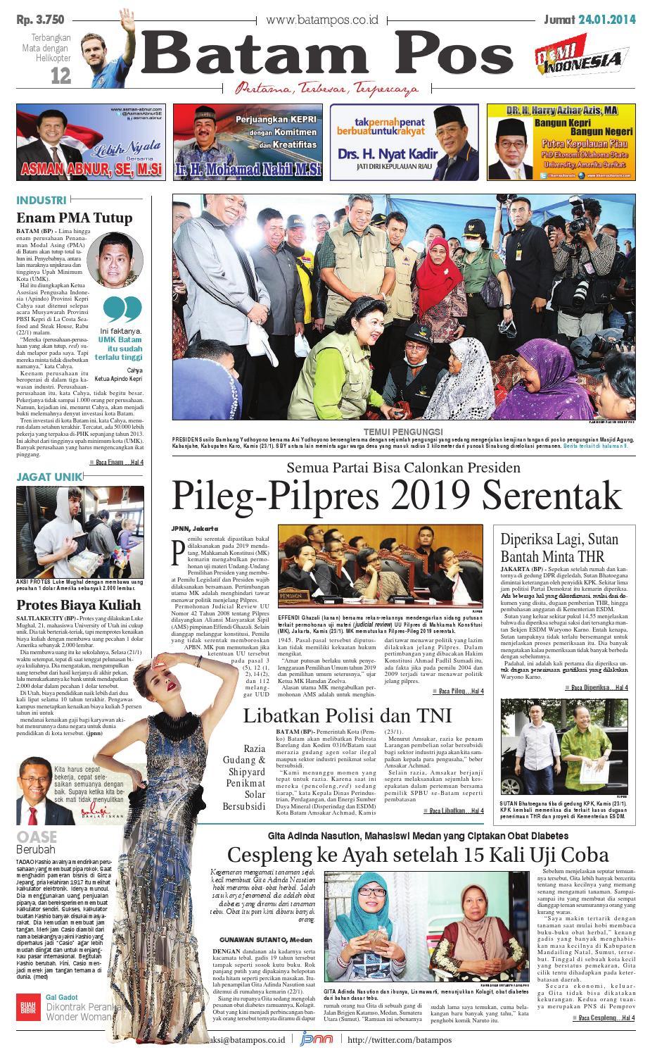 7 Maret 2014 By Batampos Newspaper Issuu Rejeki Anak Soleh Mamypoko Standar M34 24 Januari