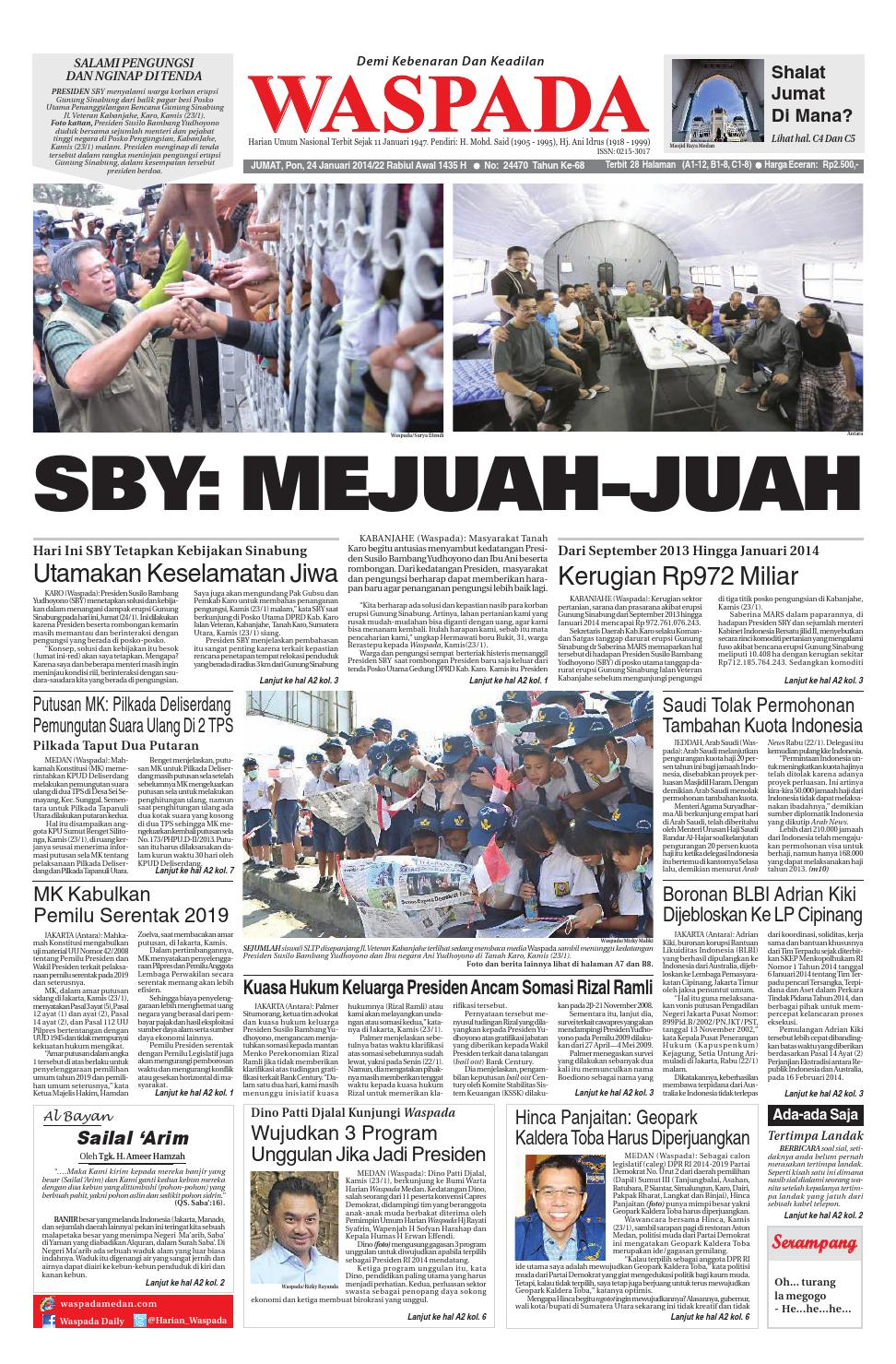 Waspadajumat 24 Januari 2014 By Harian Waspada Issuu Produk Ukm Bumn Madu Super Az Zikra