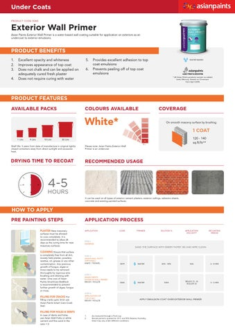 Exterior Wall Primer By Asian Paints Issuu