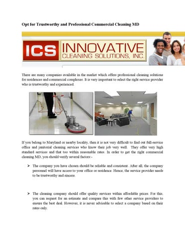 Opt For Trustworthy And Professional Commercial Cleaning