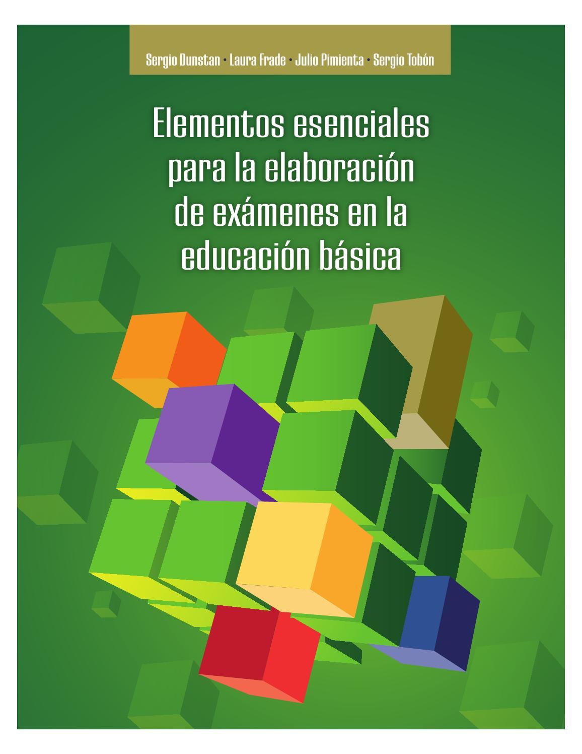 Elementos esenciales final para la elaboración de exámenes en la ...