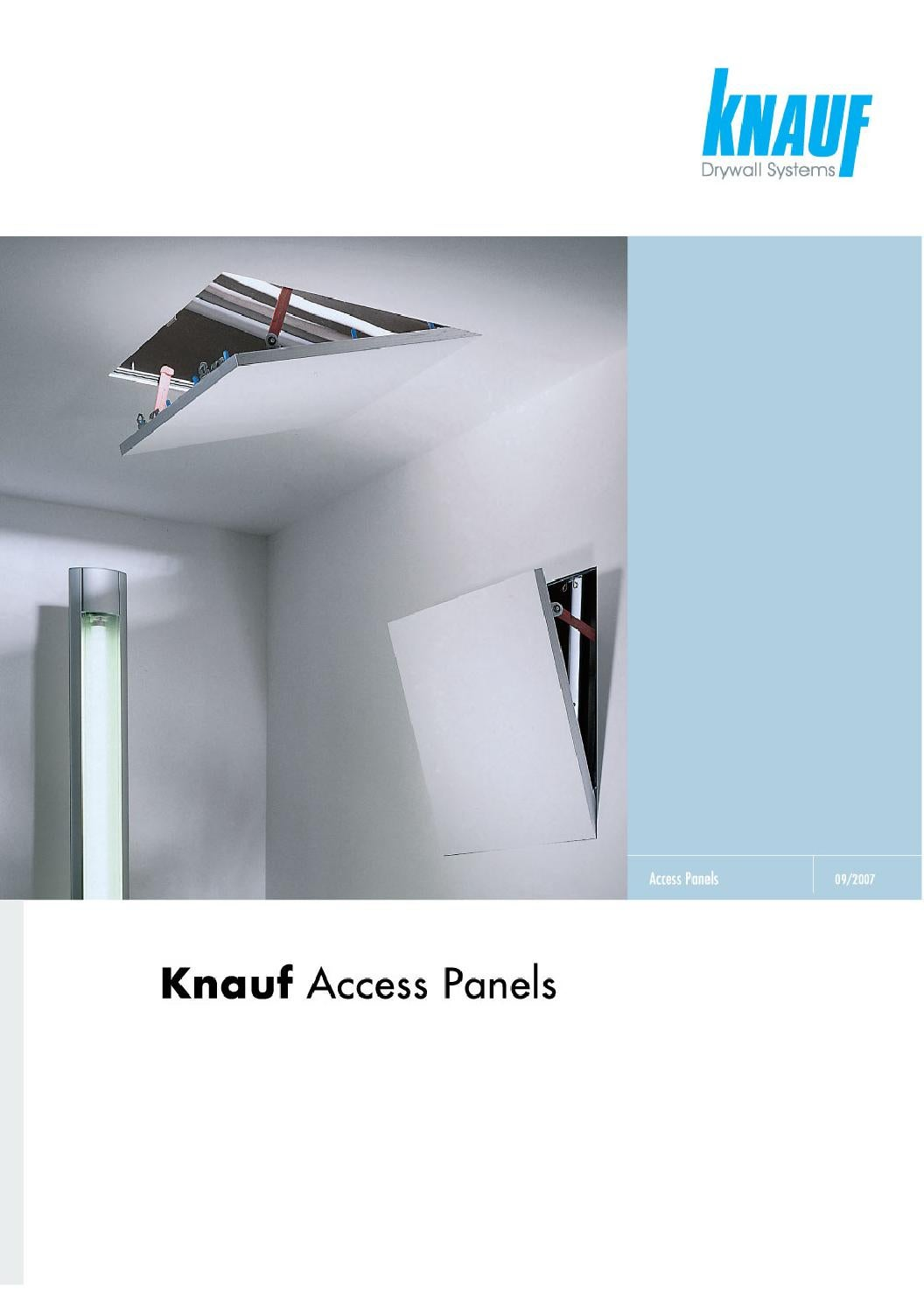 Knauf access panels - DRYWALL SYSTEMS by THERMATTIKI.GR