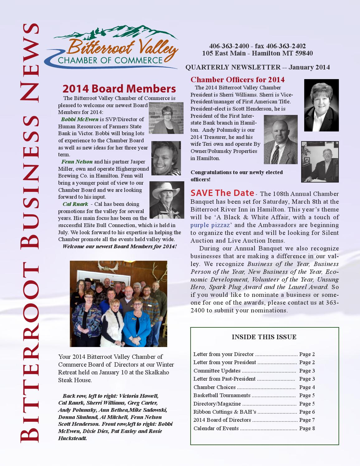 January By Bitterroot Valley Chamber Of Commerce Issuu