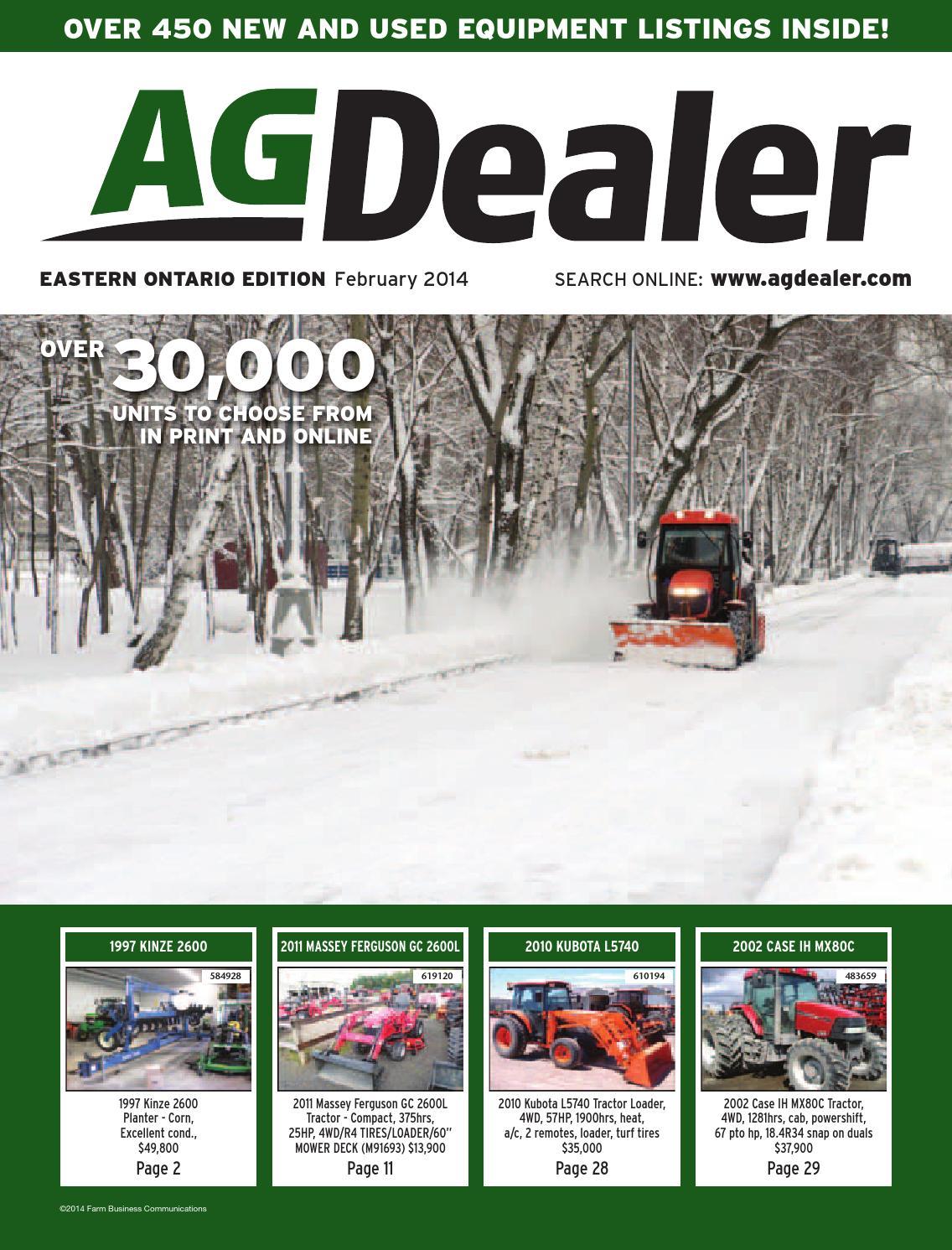 AGDealer Eastern Ontario Edition, February 204 by Farm