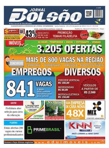 3a843b2ee CLASSIFICADOS & NEGÓCIOS NO LITORAL CATARINENSE - Santa Catarina - 24 a 31  de janeiro de 2014 I Ano XI - ED 548