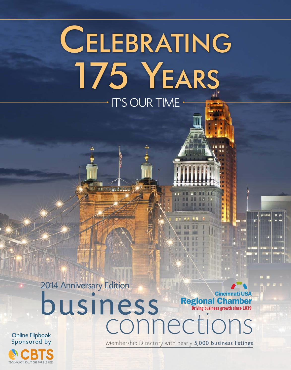 Cincinnati USA Regional Chamber 175th Anniversary Publication By Cincy Magazine